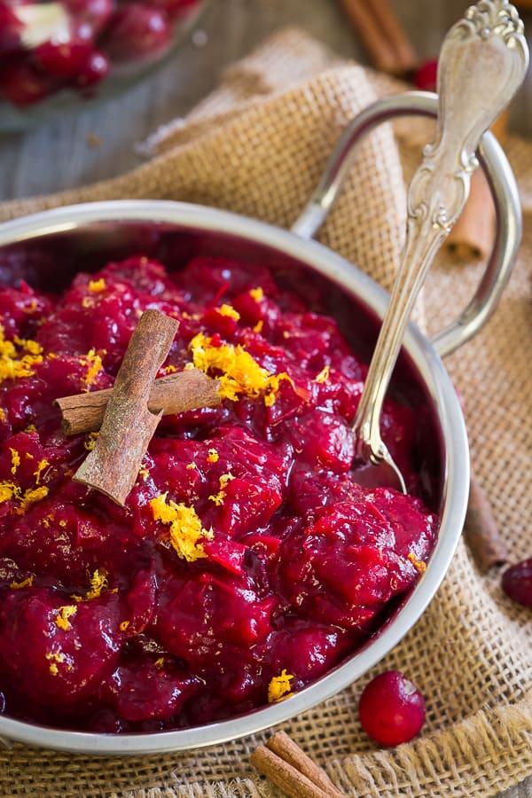 5 Ingredient Paleo Slow Cooker Cranberry Sauce