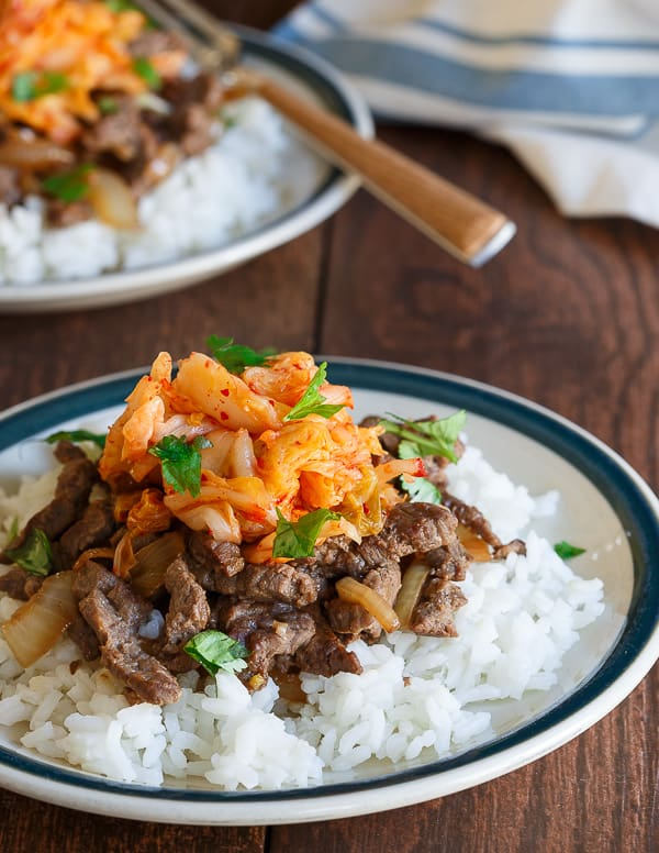 Bulgogi Kimchi Rice Plate - Running to the Kitchen®