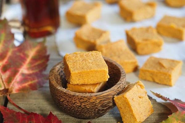 Paleo pumpkin fudge