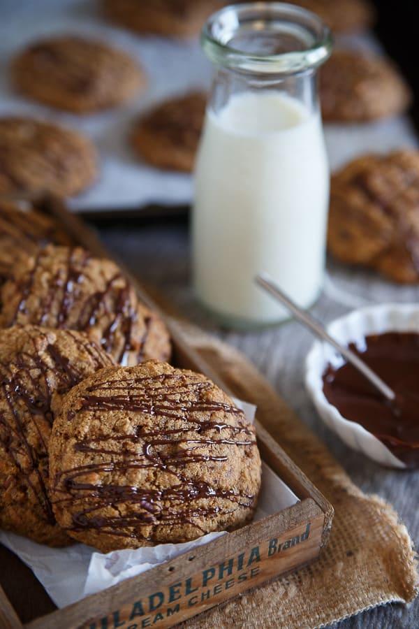 Salted butter pecan cookies