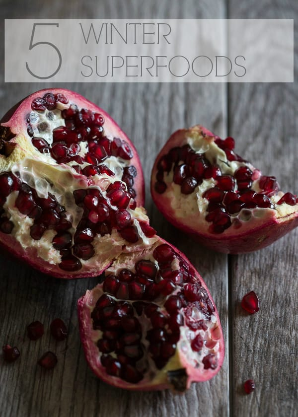 Learn about these 5 winter superfoods, why you should be incorporating them into your diet and plenty of recipes to get you started!