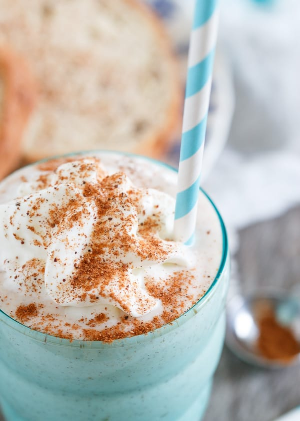This French toast smoothie is a healthy, high protein packed drink that tastes just like the decadent buttery cinnamon breakfast.