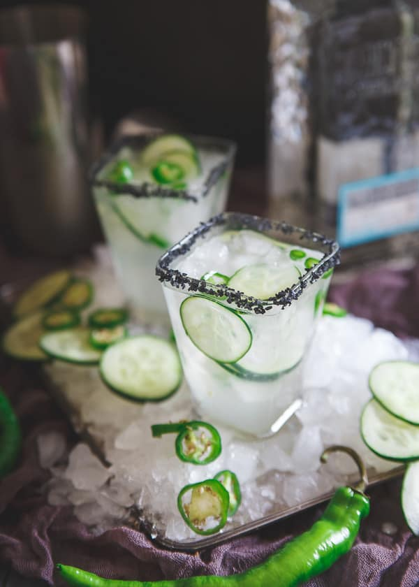 Inspired by a recent trip to Mexico, this serrano cucumber margarita is both spicy and refreshing at the same time making for one delicious happy hour!