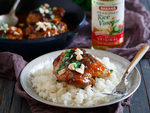 These sticky Thai chicken thighs are the perfect weeknight dinner. Ready in just 30minutes and better than takeout!