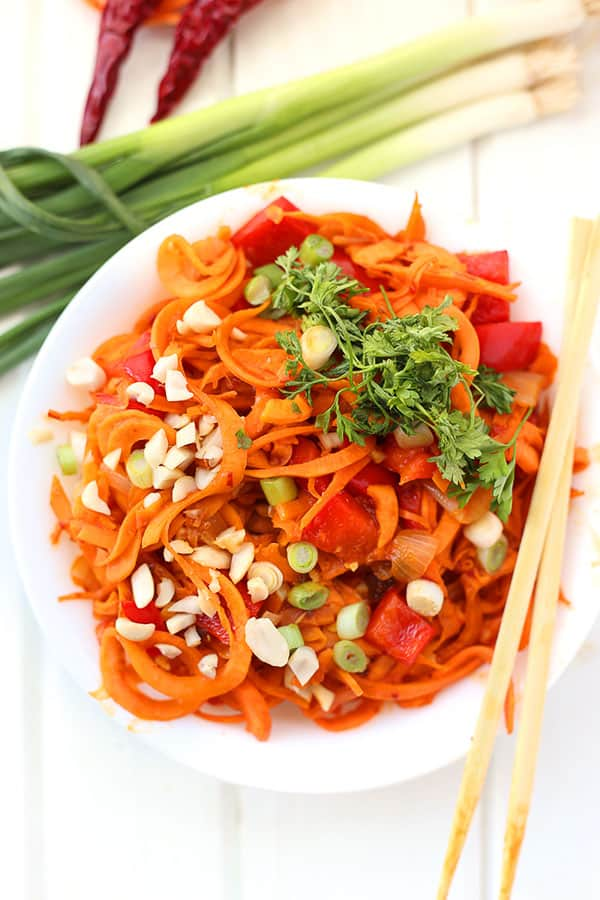 Sweet Potato Noodle Pad Thai