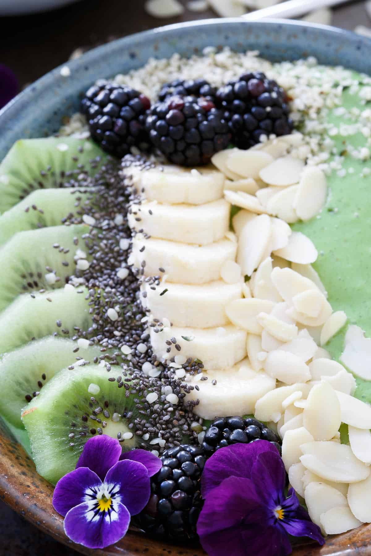 Avocado Pineapple Smoothie Bowls are a healthy way to start off your day