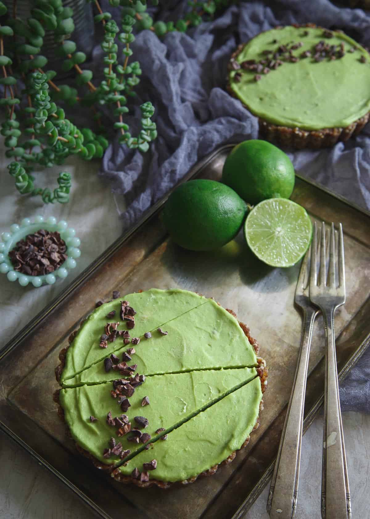 This Lime Avocado Tart is a refreshing no bake treat perfect for summer.