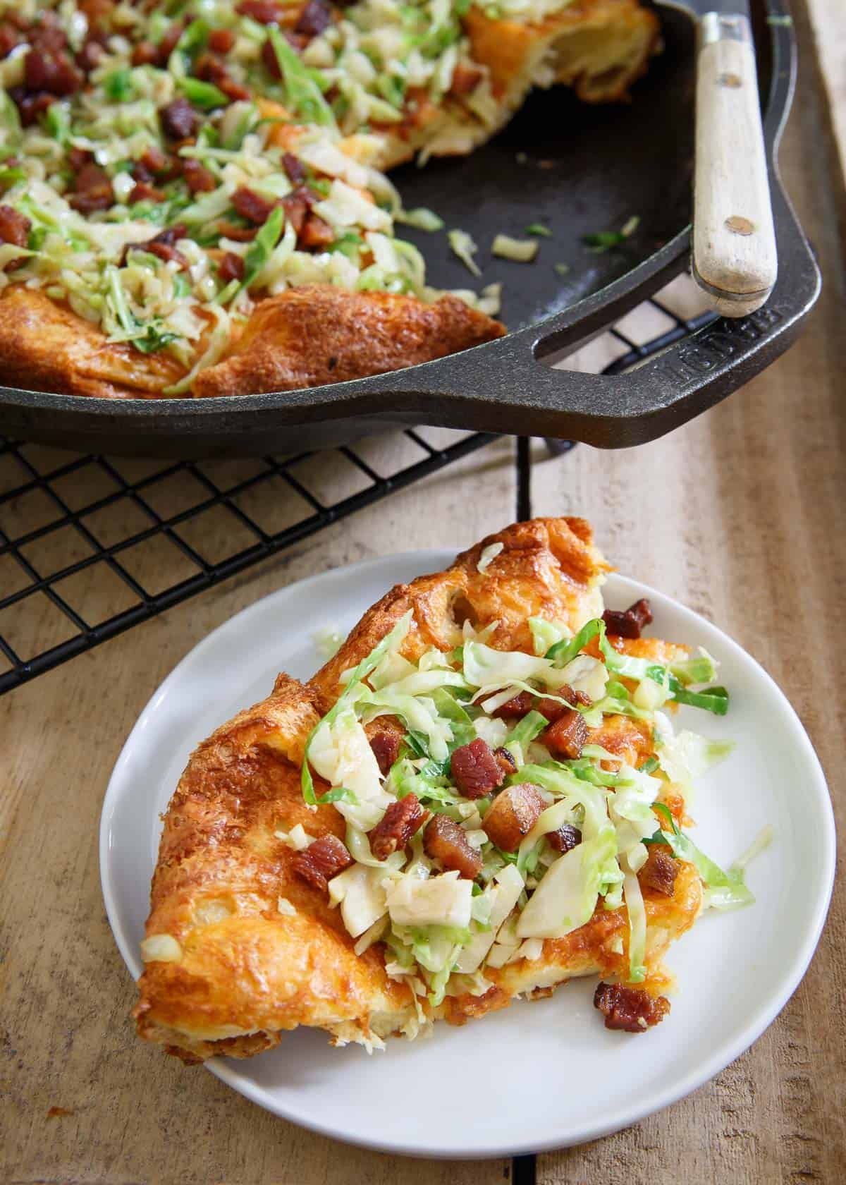 This Cheddar Dutch Baby is a quick and easy breakfast for dinner or perfect weekend brunch.