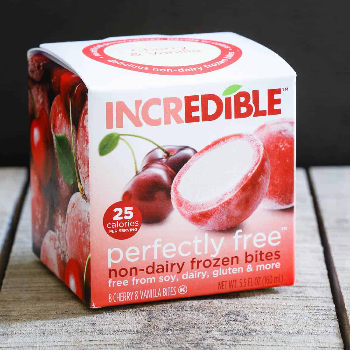 Perfectly Free non-dairy cherry frozen bites