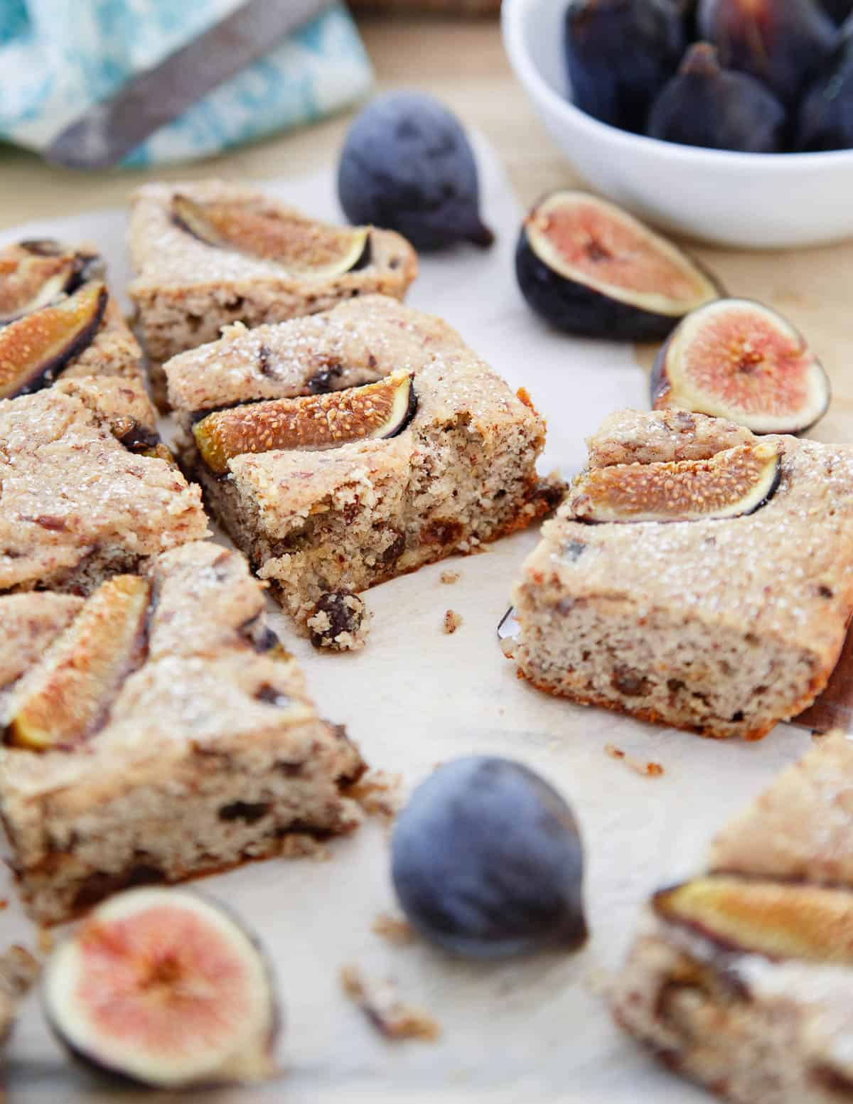 Enjoy a slice of this Ricotta Almond Fig Cake with your morning cup of coffee.