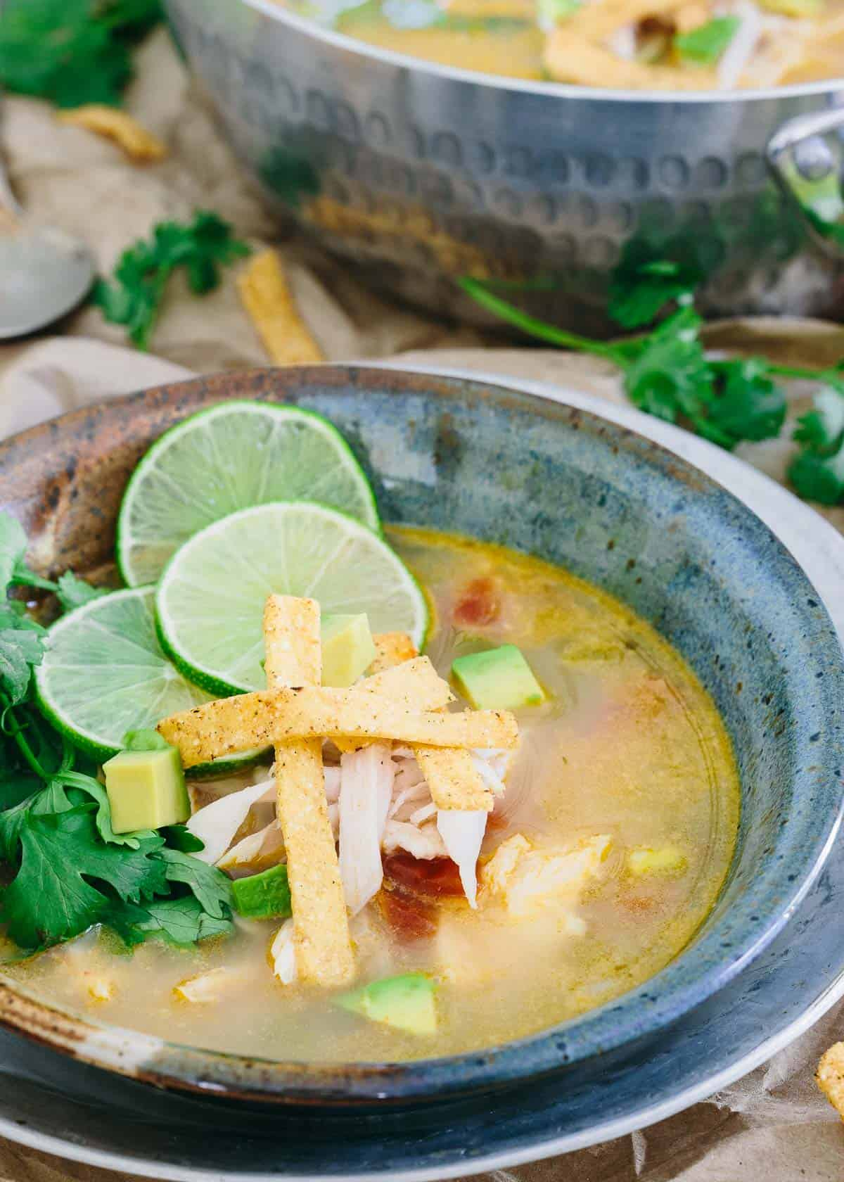 Sopa de Lima is light, refreshing and a simple classic Mexican recipe.