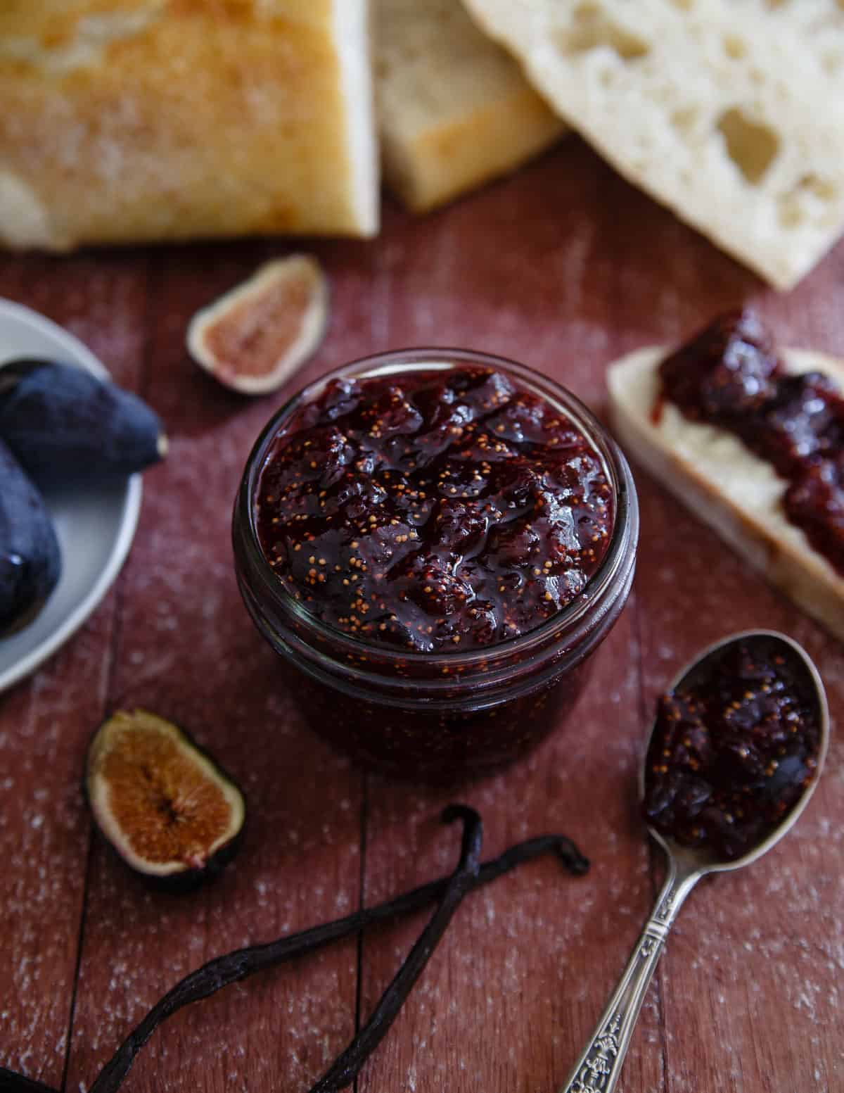 This fig preserve is infused with real vanilla bean for a sweet spread that has endless uses. Try slathering on bread or serving alongside a cheese tray.