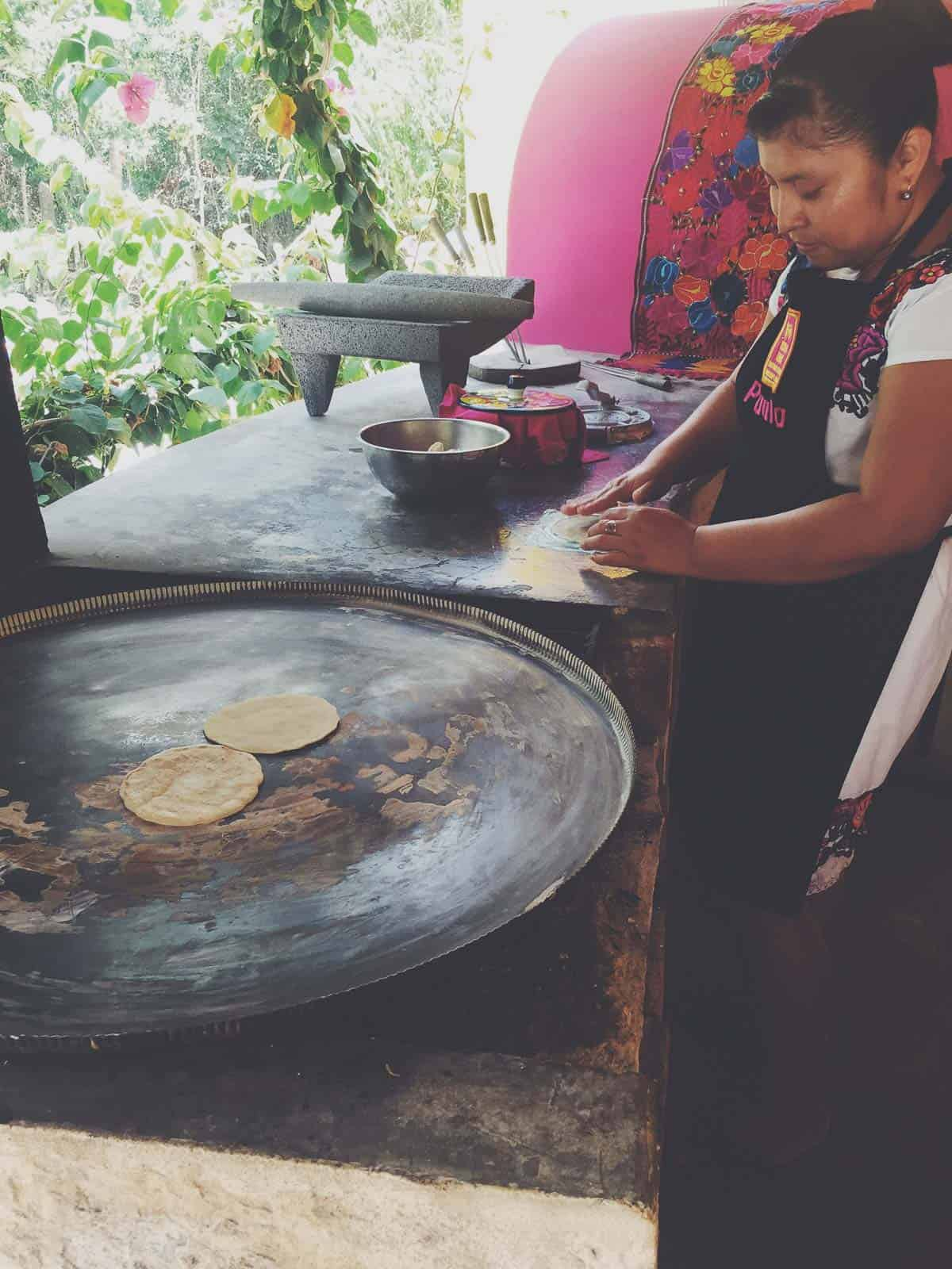 Mexico Lindo Cooking School - tortilla making