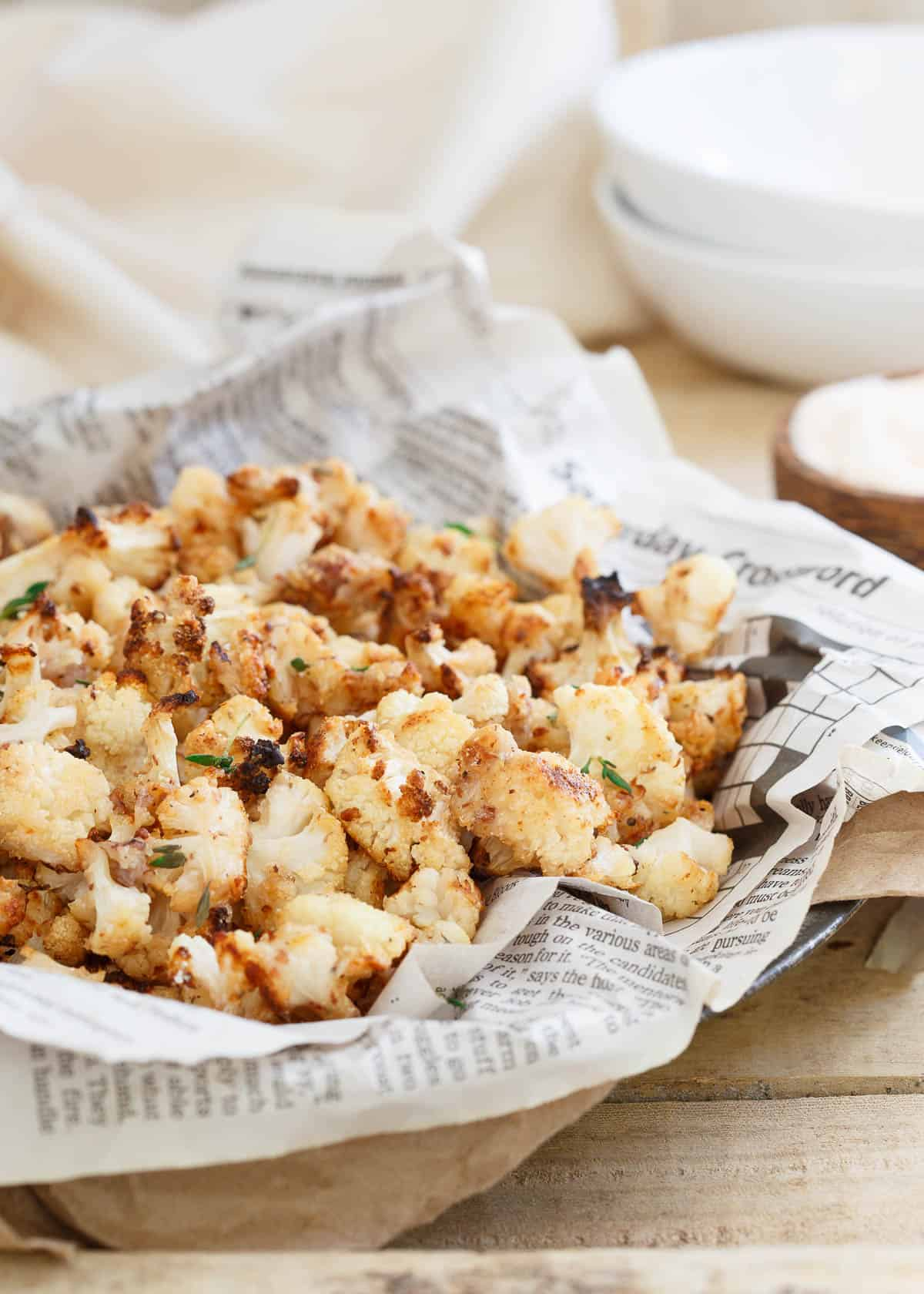 Salt and Vinegar Popcorn Cauliflower is just as addictive and delicious as the famous popcorn shrimp but with a healthier spin!
