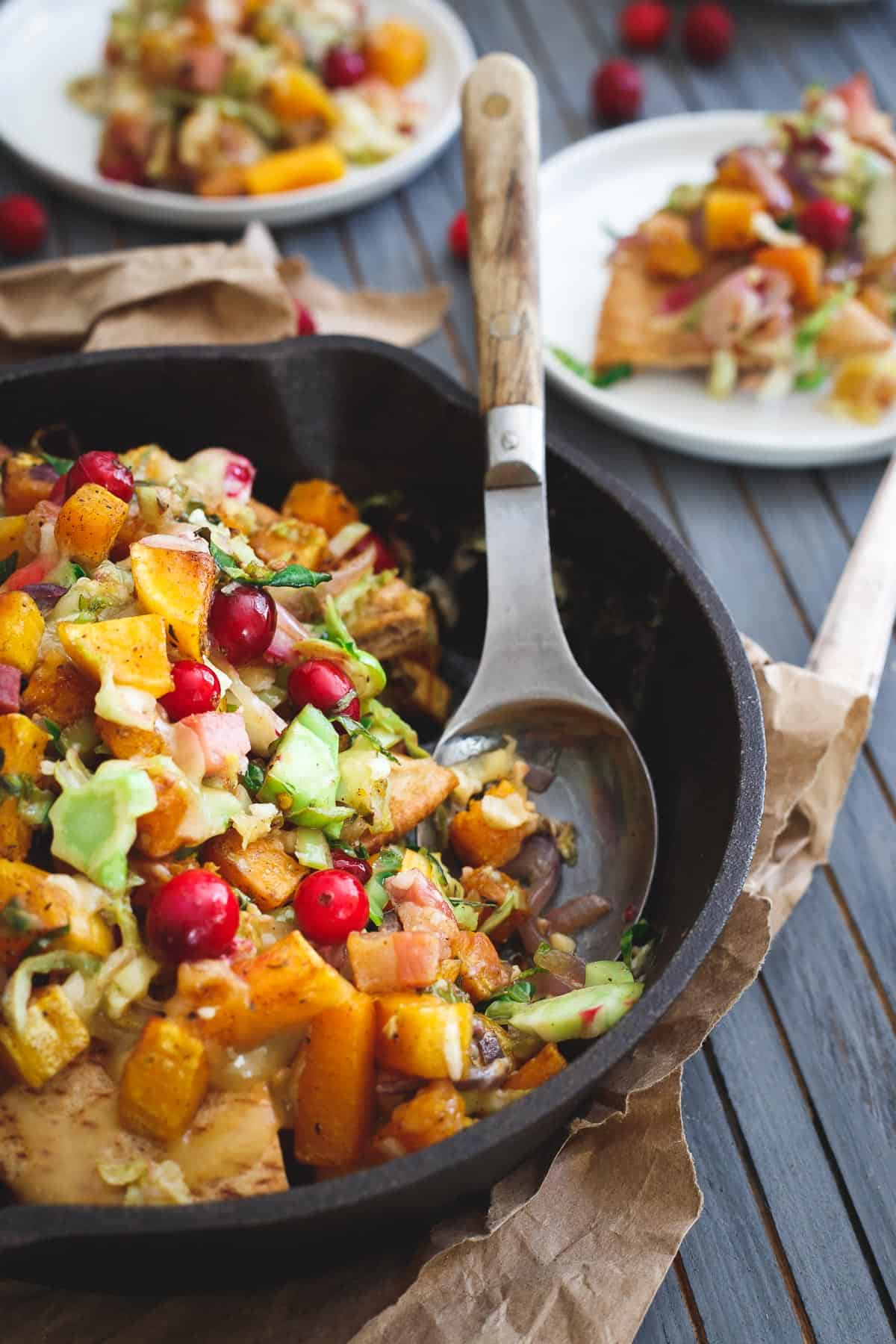 These butternut squash pita nachos make the perfect fall appetizer to feed a crowd.