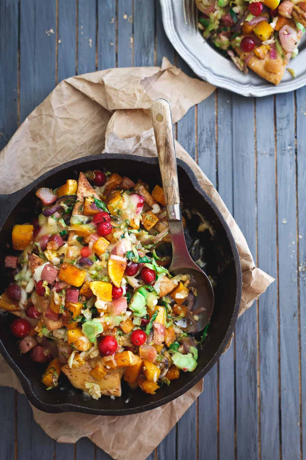 Butternut squash whole wheat pita nachos are packed with fall flavors in every bite.