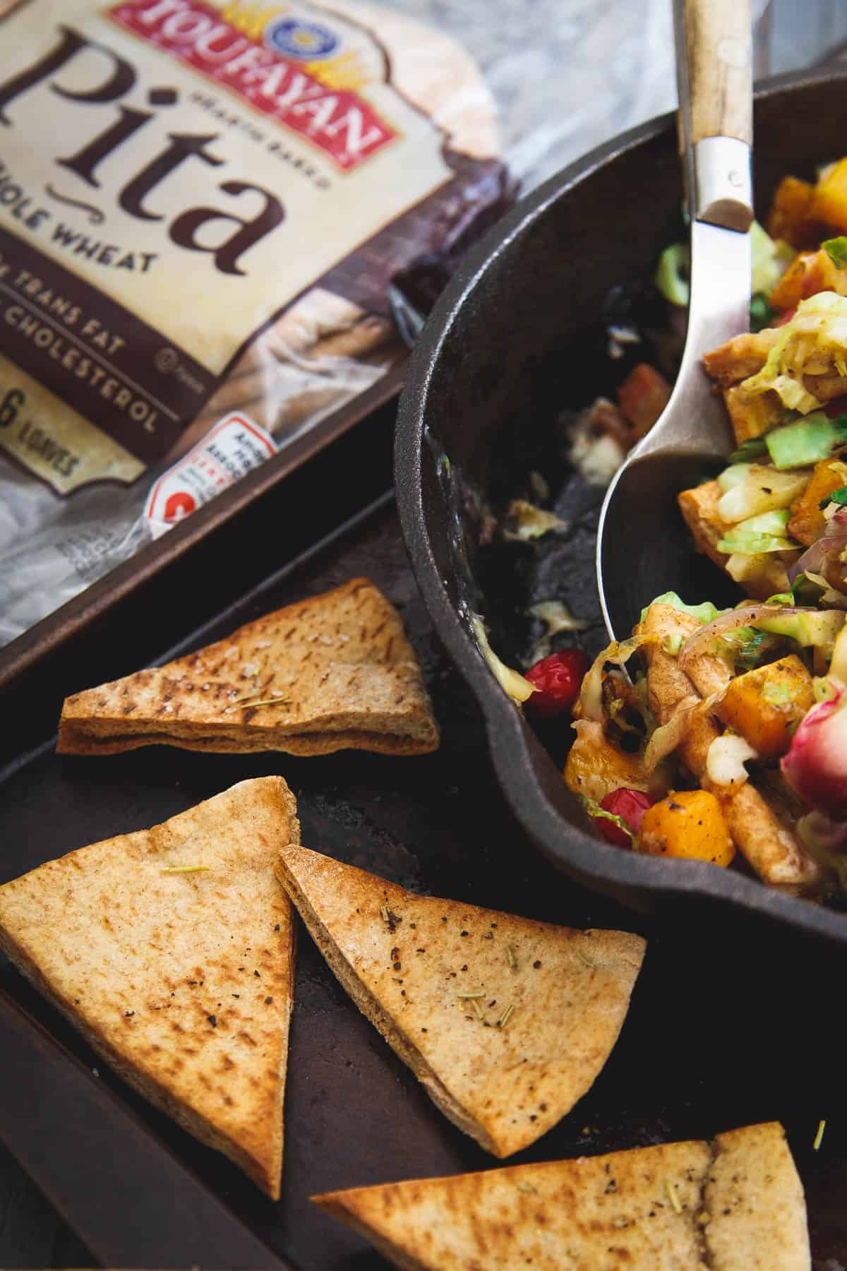 Made with Toufayan whole wheat pitas, these butternut squash pita nachos are a taste of fall in every bite.