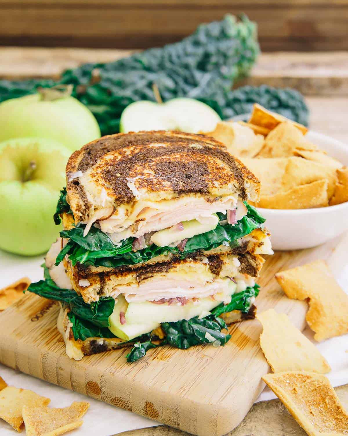 Your mouth will be happy with every bite of this roasted sweet potato apple ham pressed sandwich.