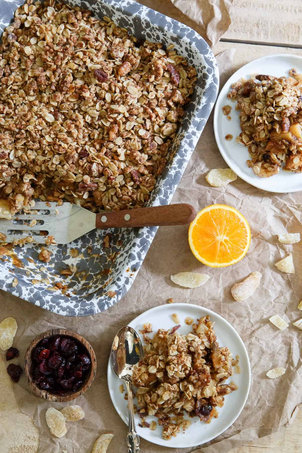 Orange Ginger Pear and Quince Crisp captures every flavor you love. A pure fall treasure.