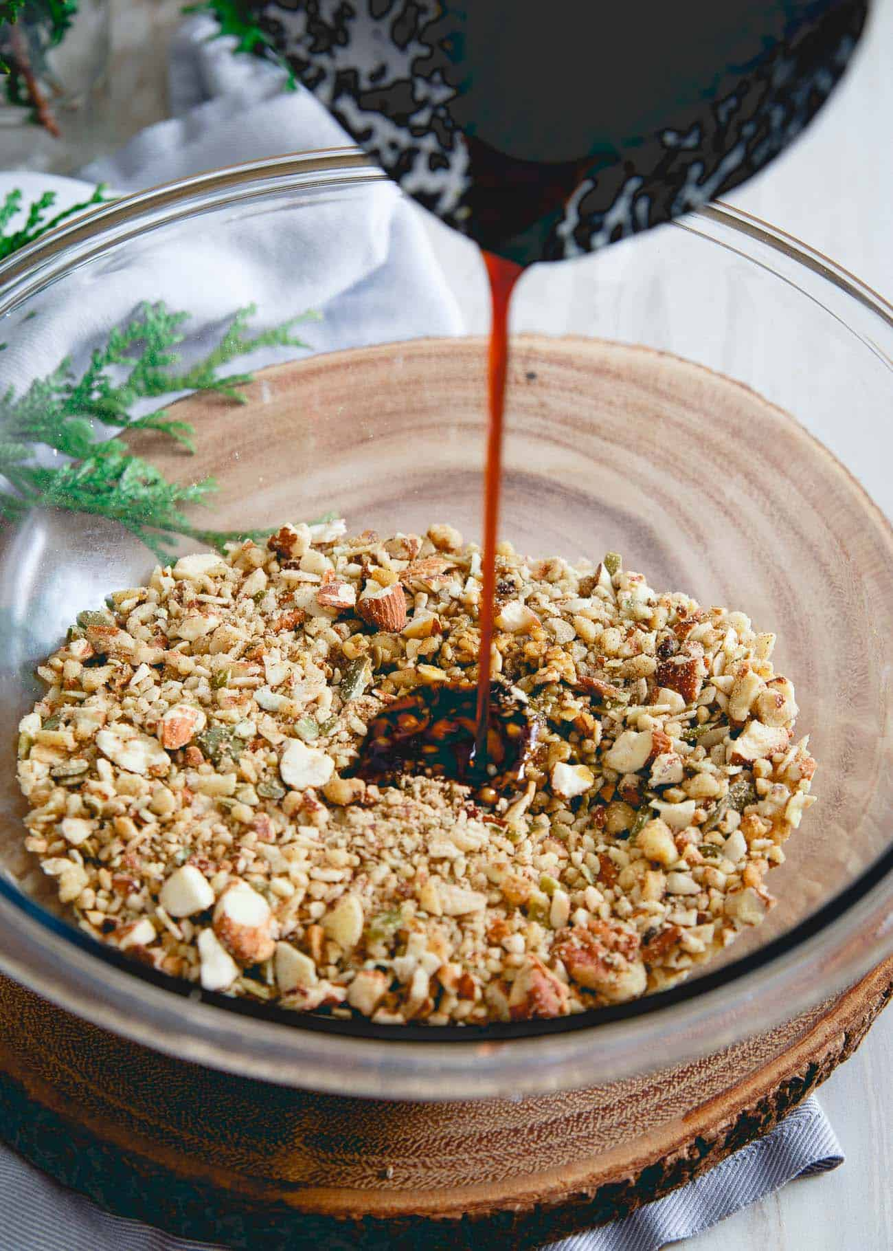 Molasses and ginger give this paleo granola a festive wintertime twist!