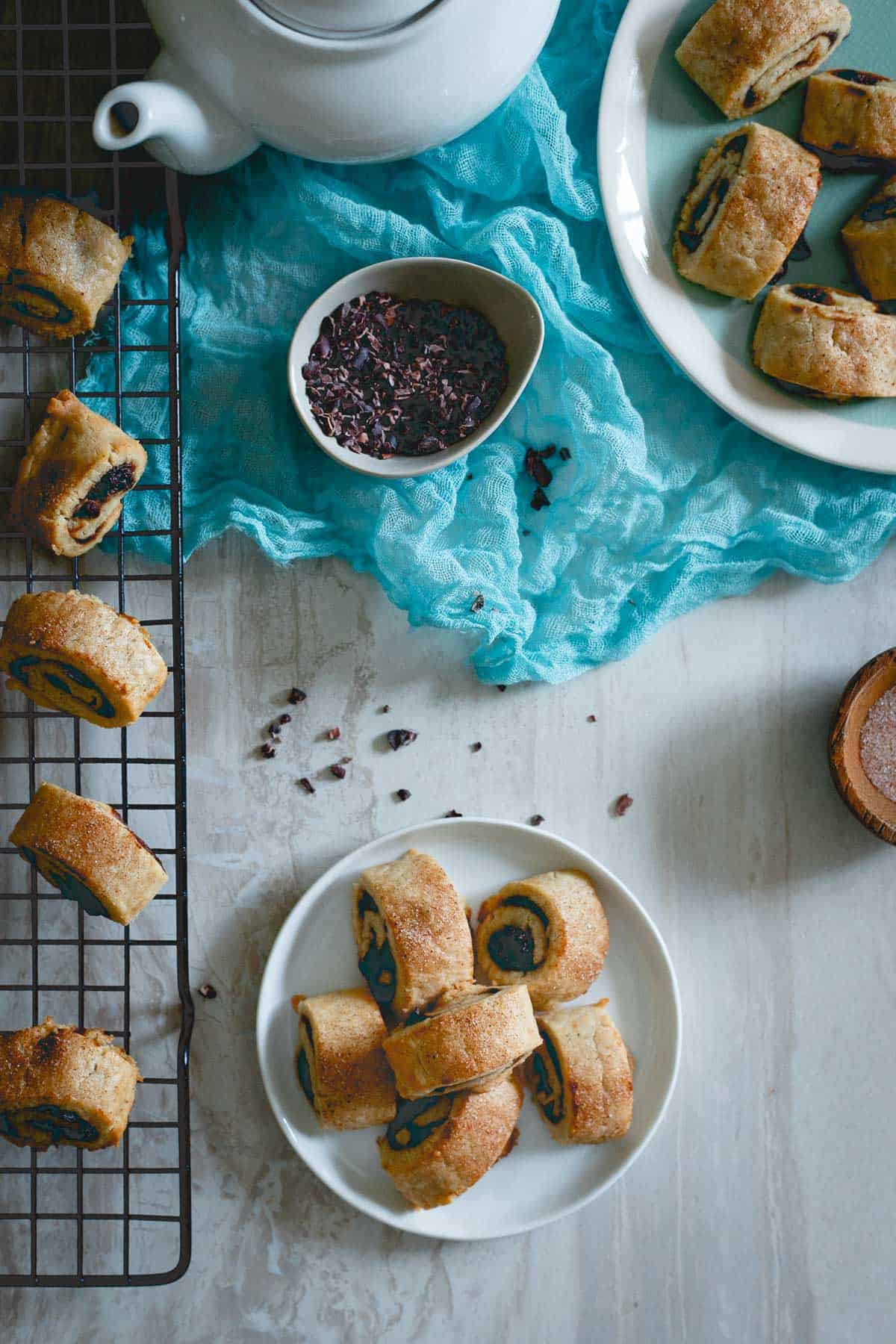 Rugelach make a great addition to your holiday baking, especially this seasonal apple butter and cacao nib version!