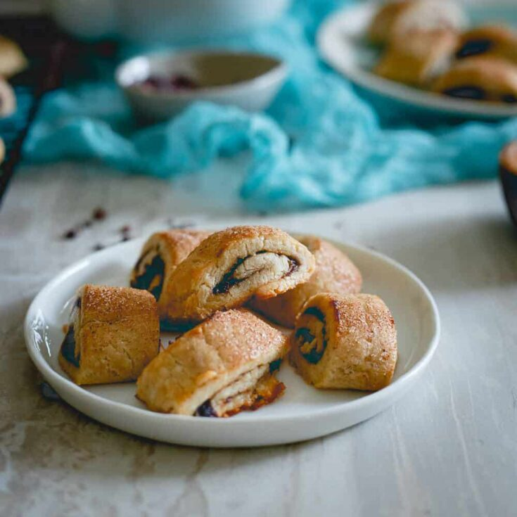 Apple Butter Cacao Nib Rugelach