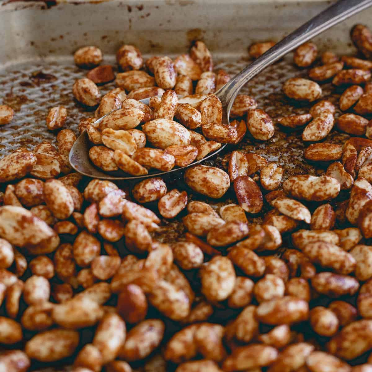 Molasses roasted peanuts bring a subtle sweetness to this creamy gingerbread peanut butter.