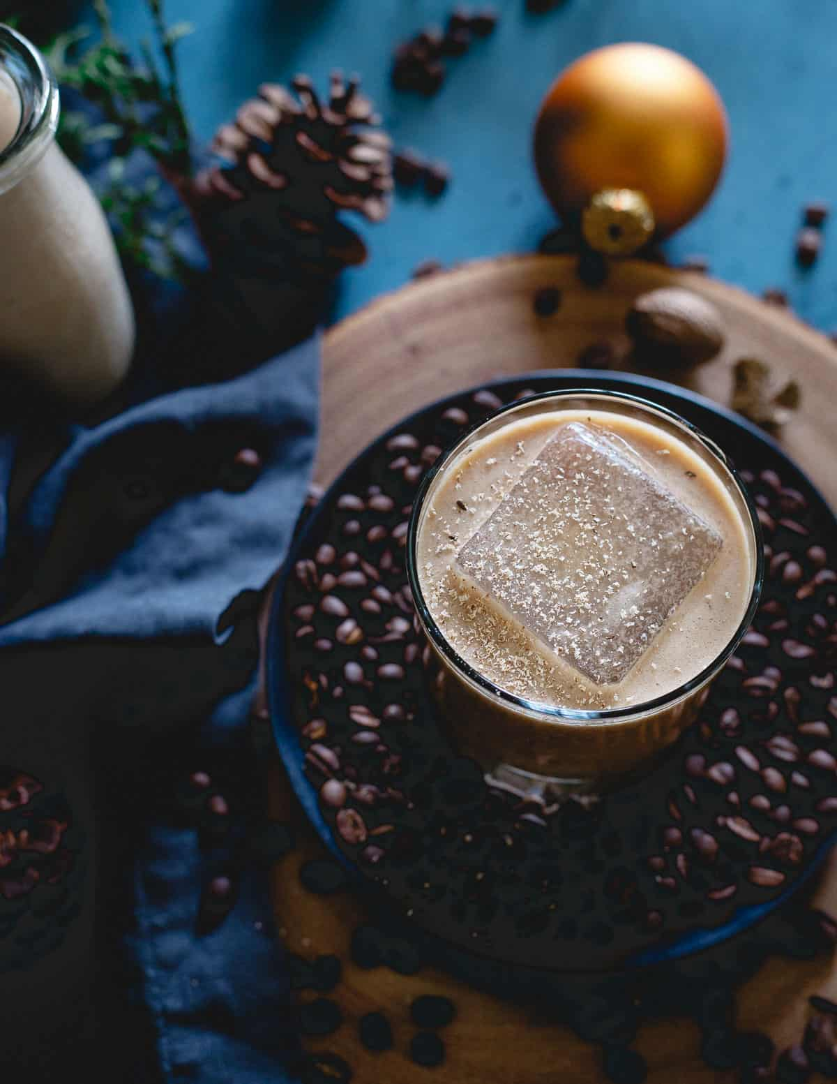 Part eggnog, part coffee, this coconut bourbon coffee nog is creamy, festive and a delicious holiday drink.