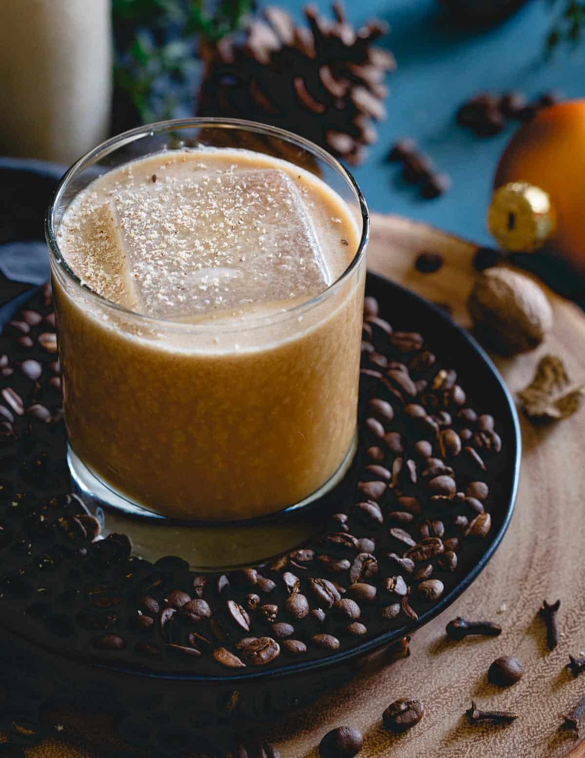 Your new winter-time drink, the coconut bourbon coffee nog! With both booze and caffeine, it can't be beat!