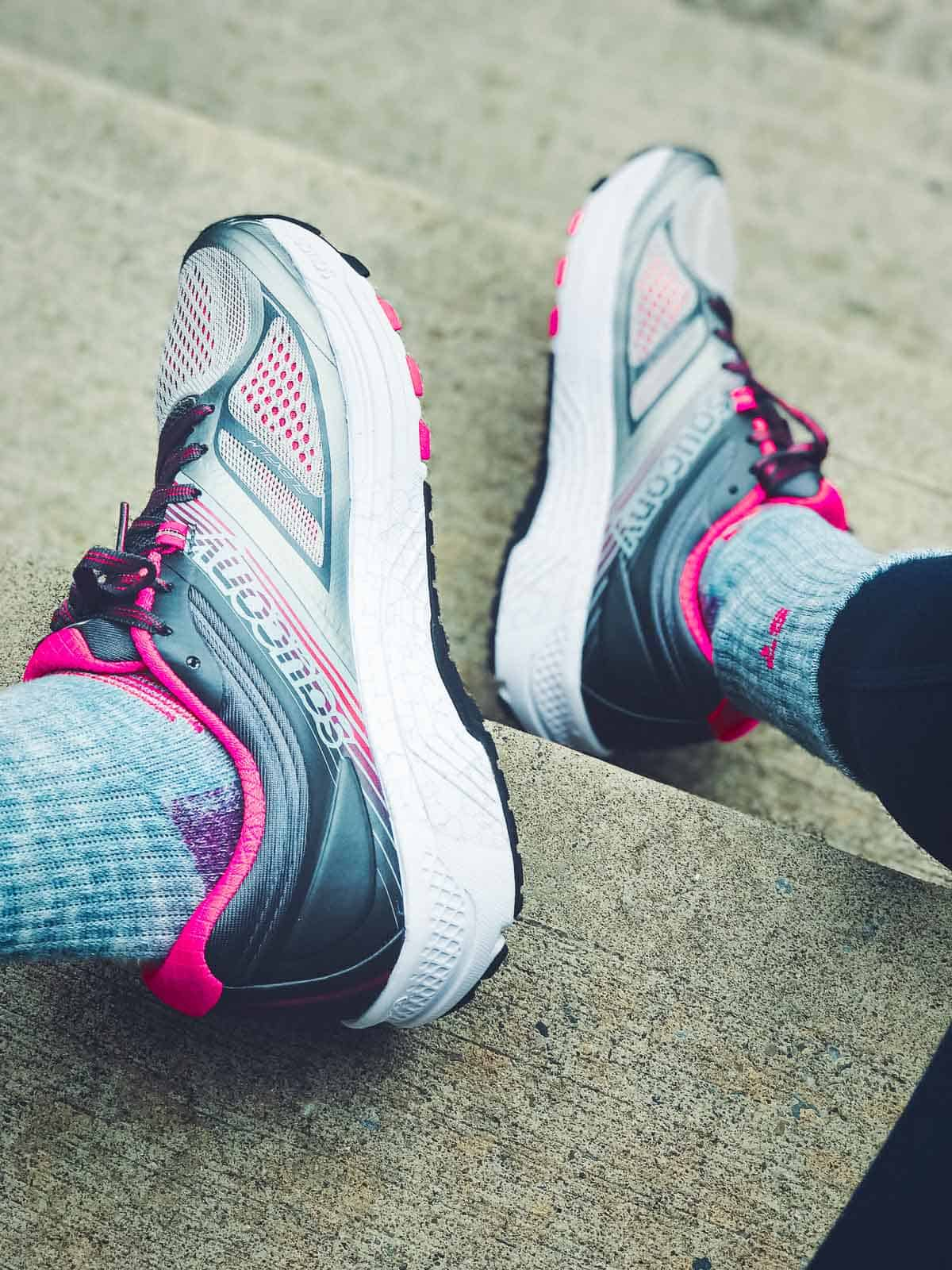 The Saucony Guide 10 is the perfect light stability running shoe.