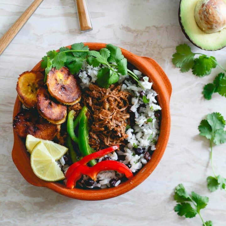 Meal prep these Mexican shredded beef bowls over the weekend and enjoy them for lunch and dinner all week long!