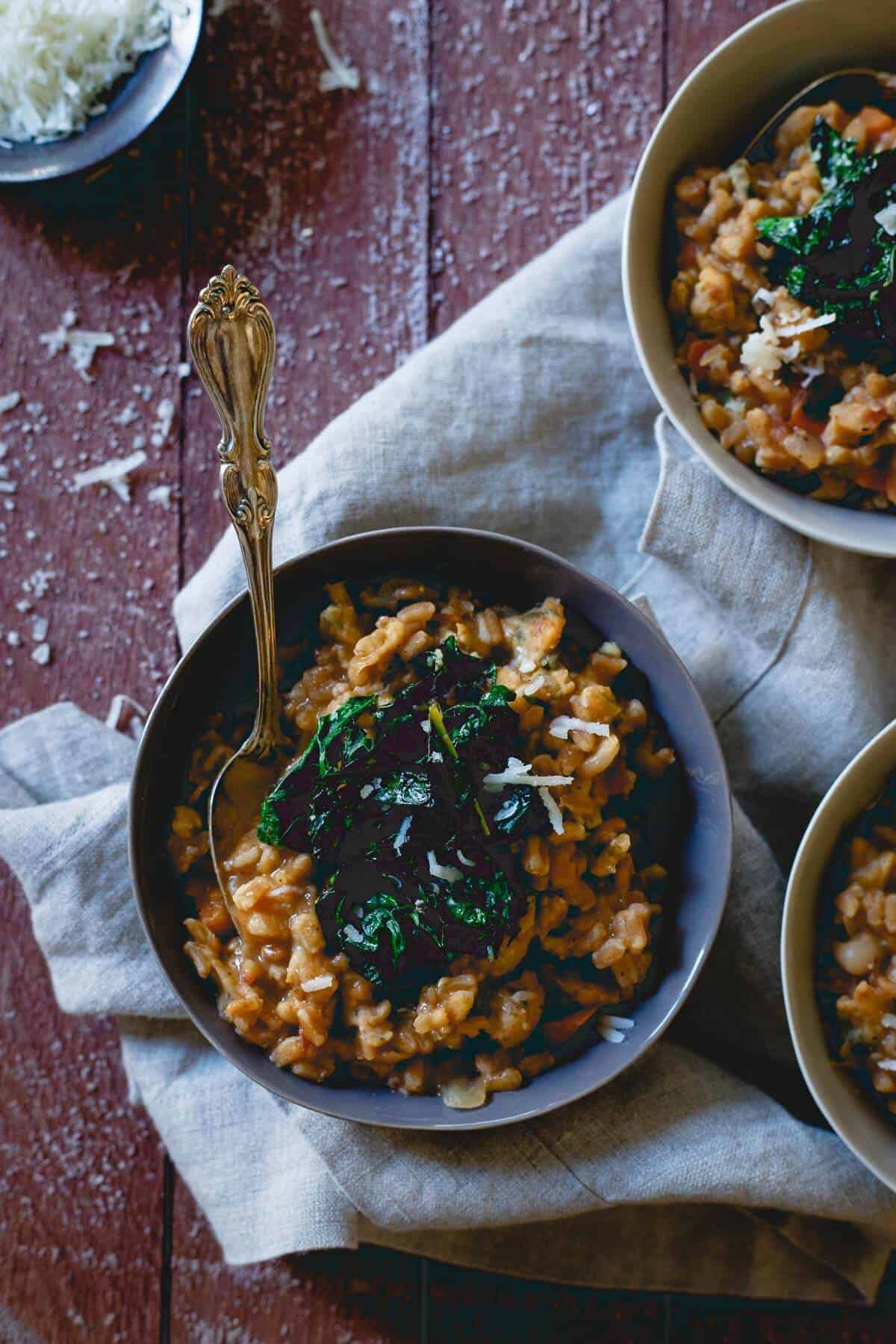 White Bean Farro Risotto