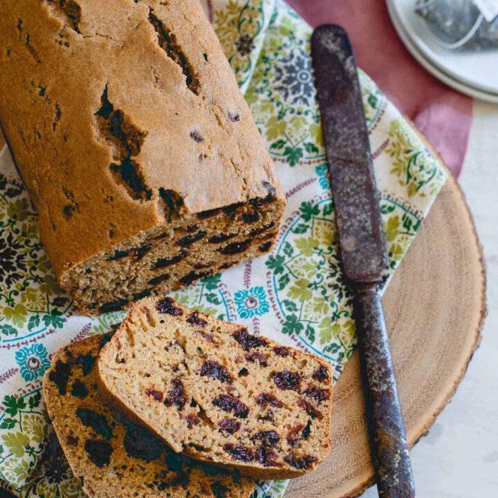 Tart Cherry Tea Bread