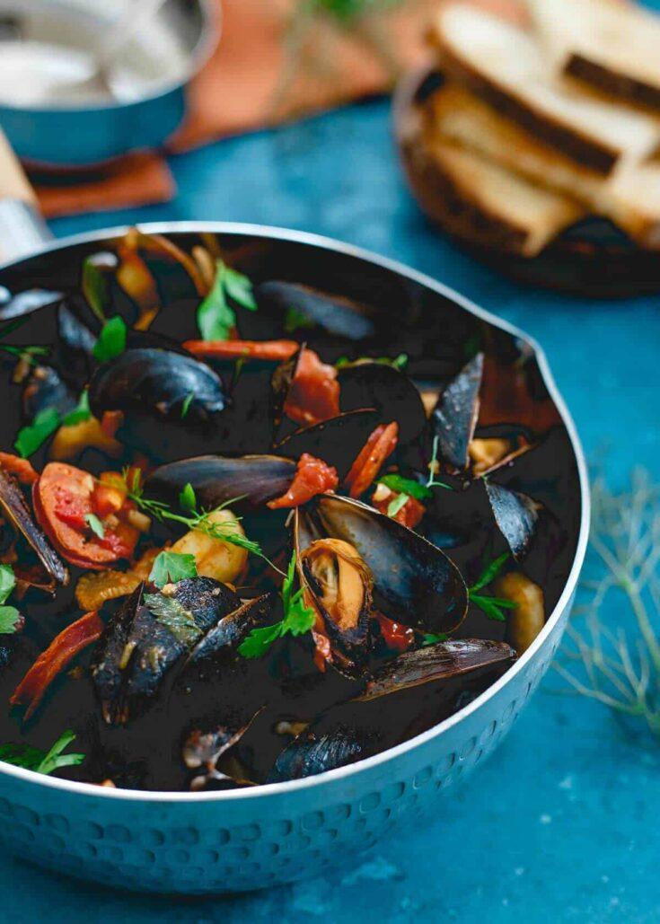 Chorizo Chili Mussels