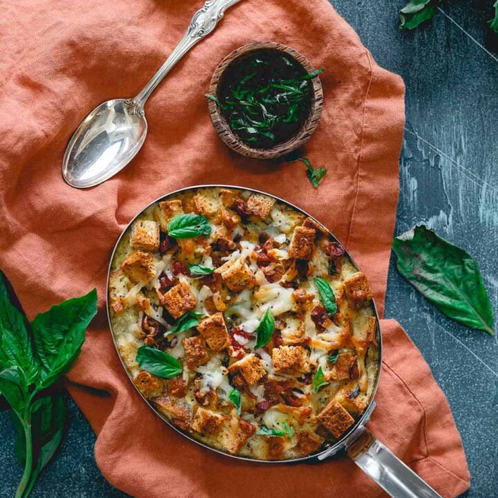 Everything Bagel Breakfast Strata