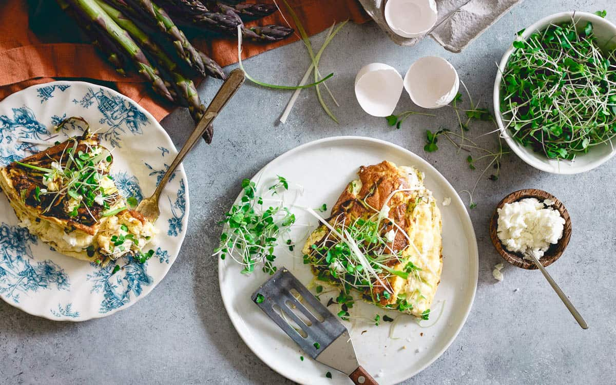 This savory spring breakfast has the texture of a light and airy souffle with all the heartiness of an omelette.