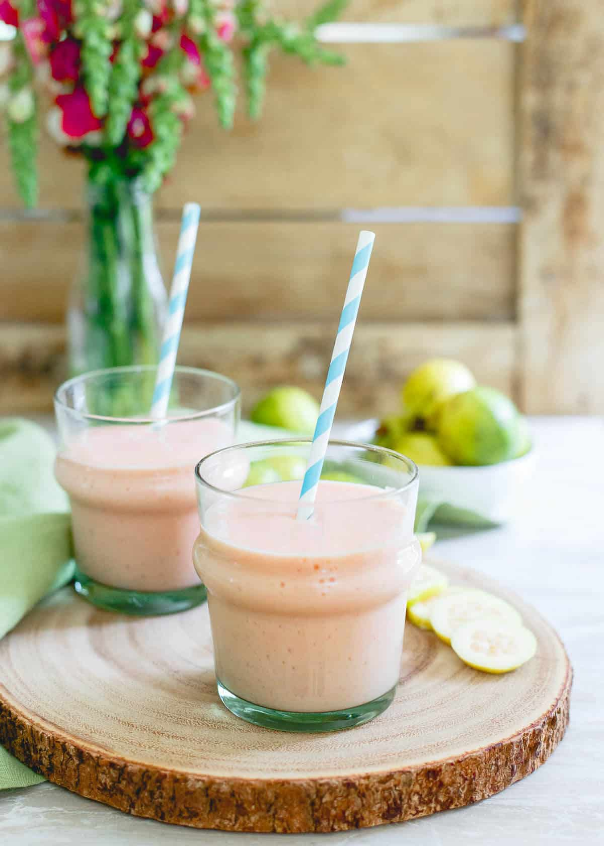Guava Pineapple Smoothie - A Dairy-Free Refreshing Summer Drink