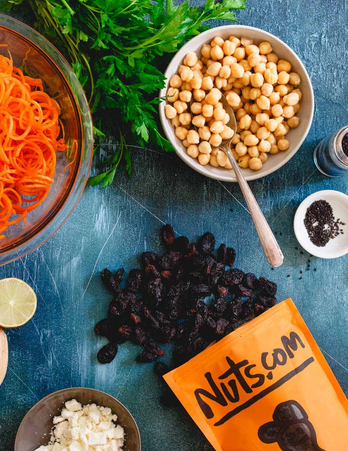 Royal raisins are a plump, juicy and deliciously sweet addition to this mediterranean carrot salad.