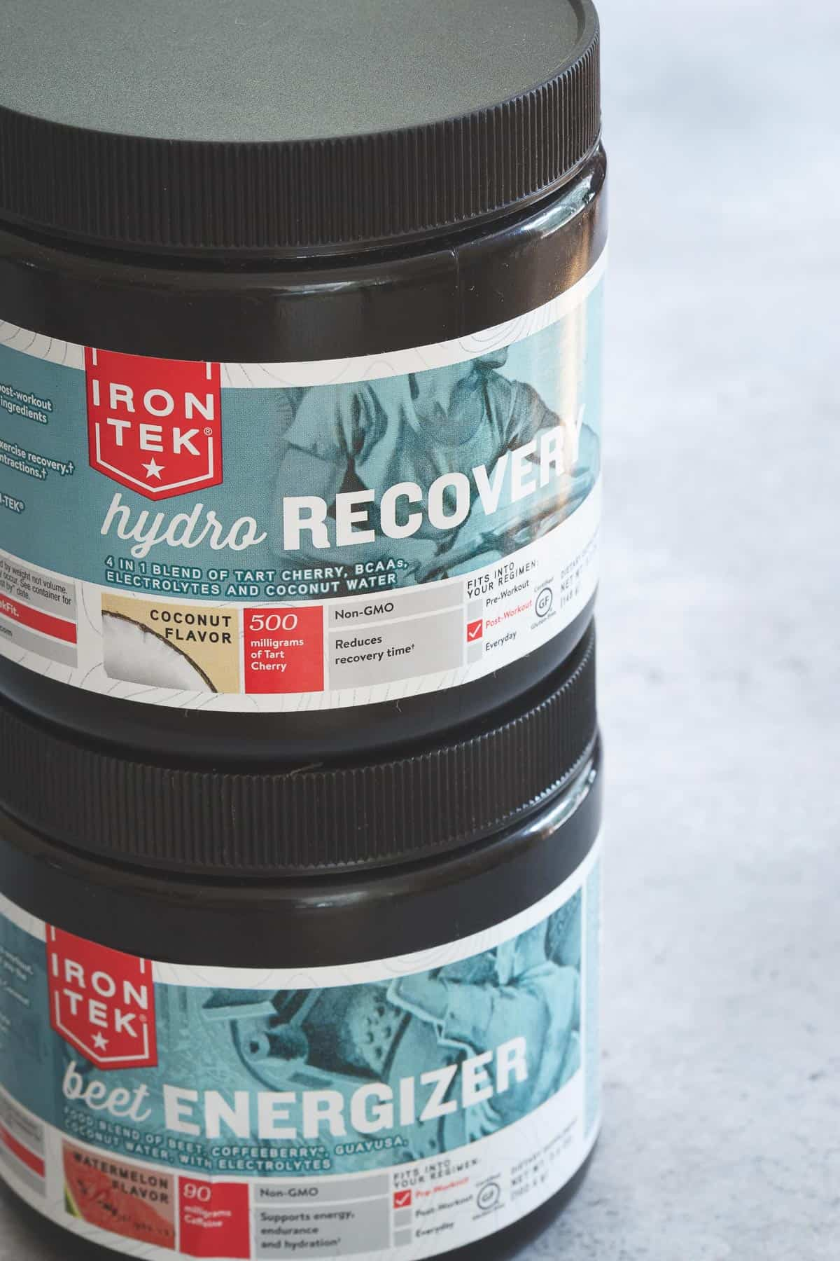 IronTek energizer and recovery options are great natural pre and post workout supplements to add into your routine.