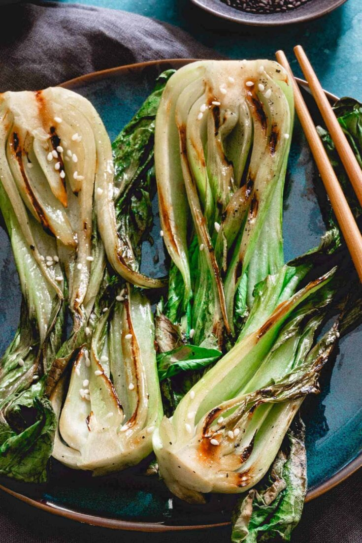Simple Grilled Baby Bok Choy