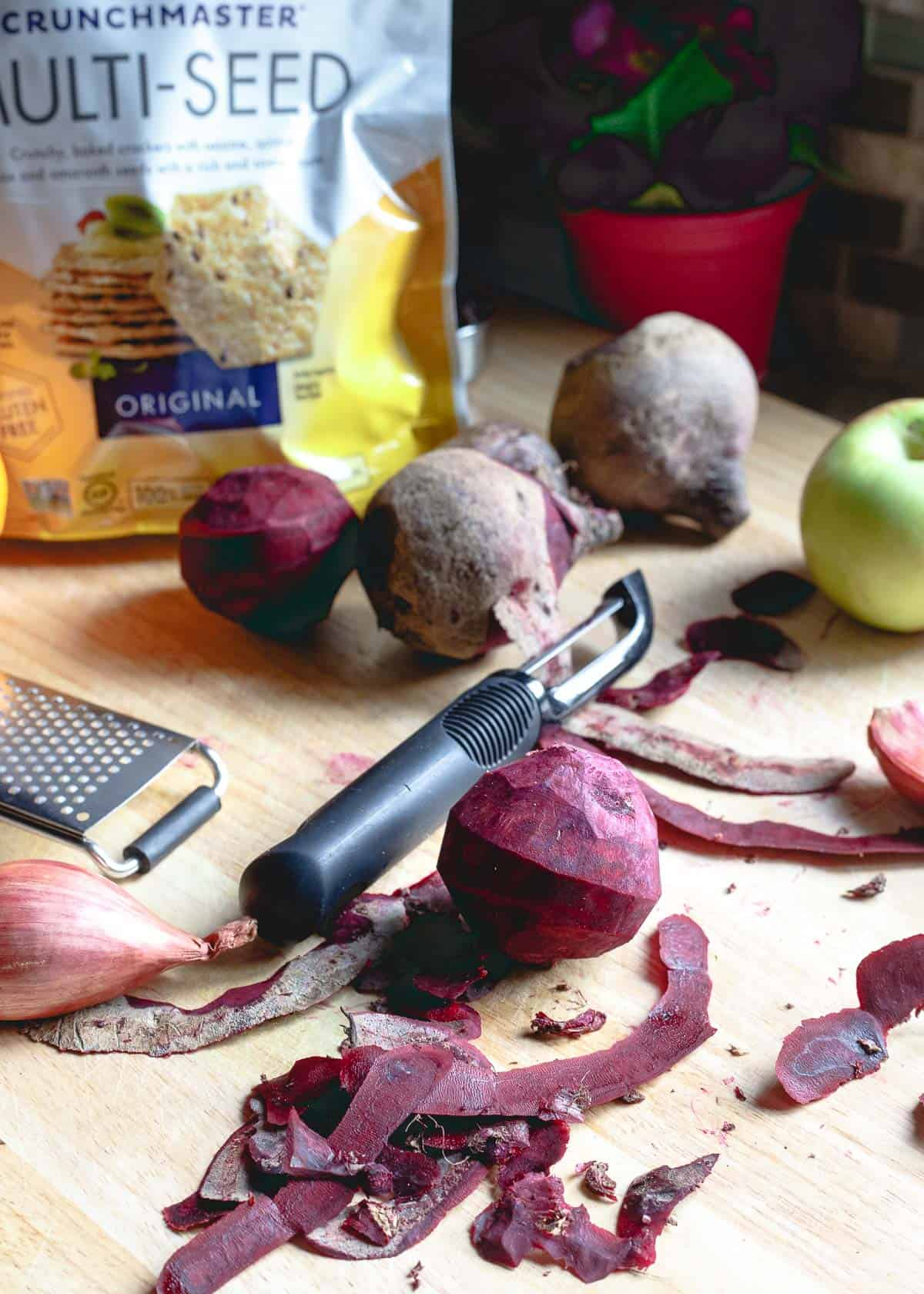 Beets cooked down with apples, raisins and lots of winter spices become a lovely chutney perfect for so many things!