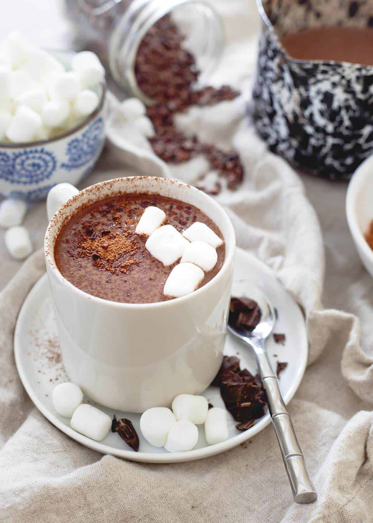 Montmorency tart cherries may help aid in muscle recovery and sleep. A mug of this creamy, decadent tart cherry hot chocolate is not only delicious but a nutritiously smart winter treat!