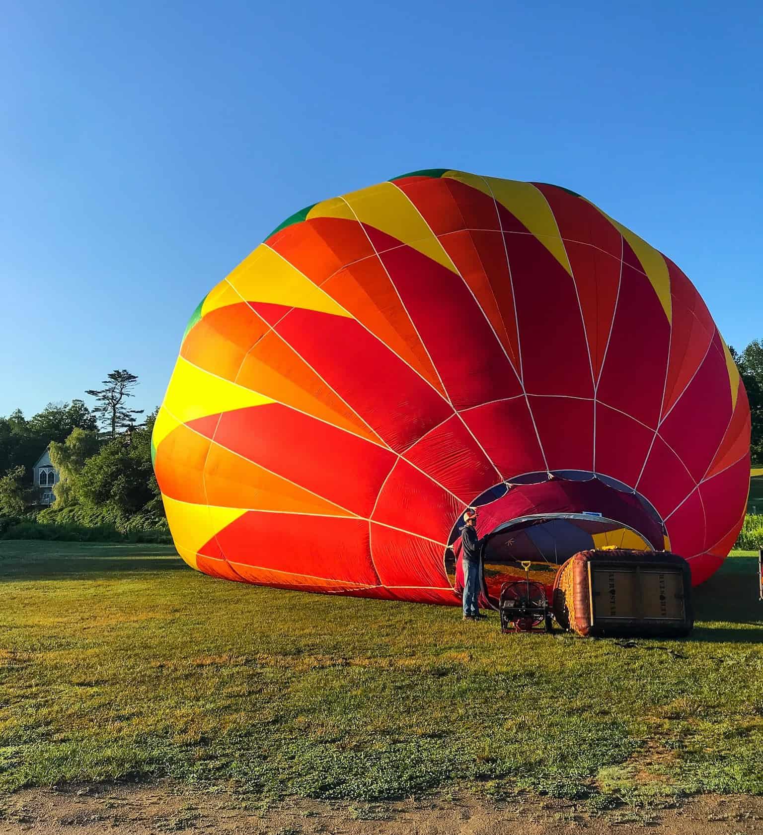 Hot Air Balloon in Quechee, VT