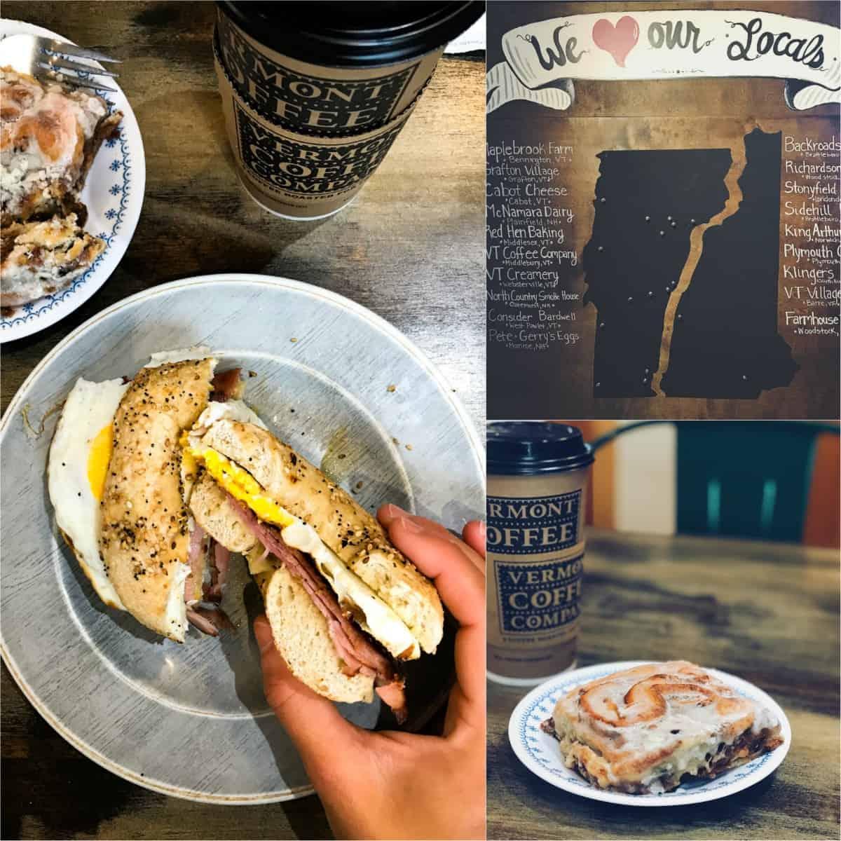 Breakfast at Mon Vert Cafe in Woodstock, VT