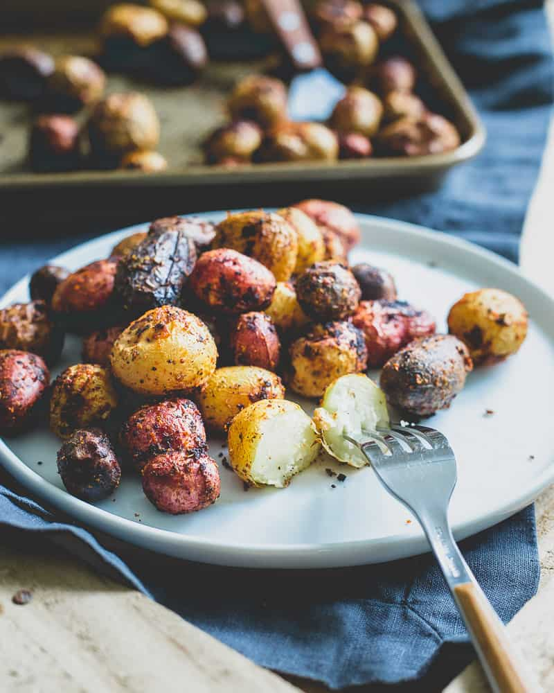 Roasted peri peri potatoes make an easy and tasty side dish to any dinner.