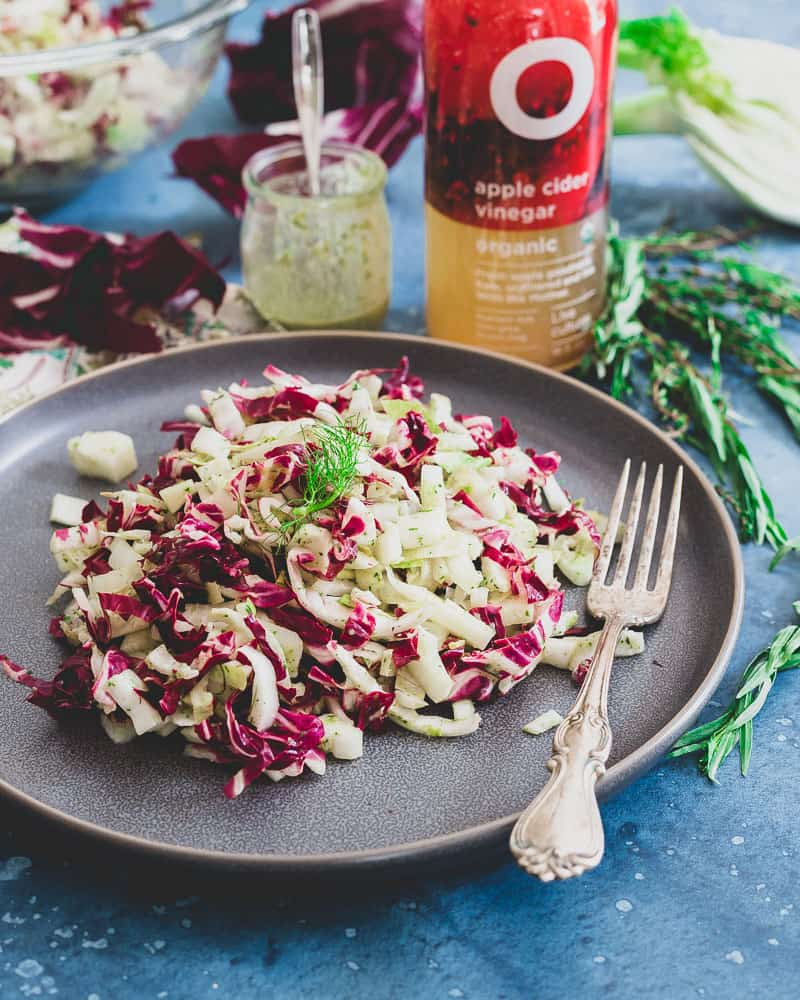 Radicchio, endive and fennel make for a bright, refreshing and different salad to keep healthy eating interesting!