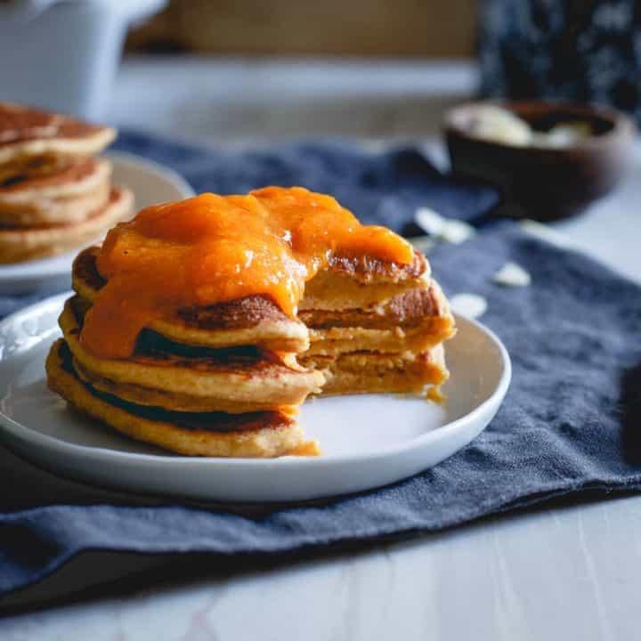 Almond Persimmon Pancakes