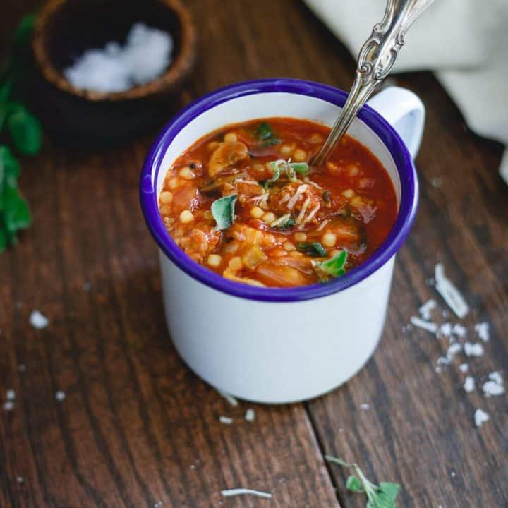 Italian Tomato Pasta Soup
