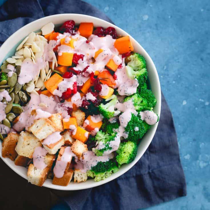 Roasted Cranberry Broccoli Salad