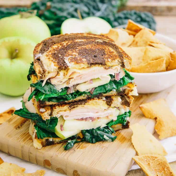 Roasted Sweet Potato Apple Ham Sandwich